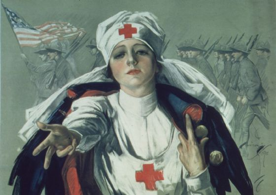 Red Cross Nurse Painting 1917 - 1919. Fine Art Print/Poster (4882)